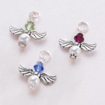 Birthstone Guardian Angel Charm